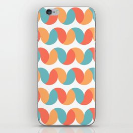 Pastel colored abstract geometric waves iPhone Skin