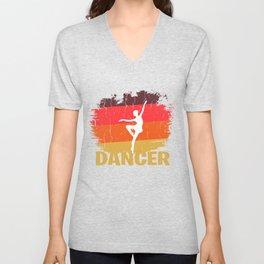 Retro Dancer Design Unisex V-Neck