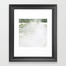 Playful wave Framed Art Print