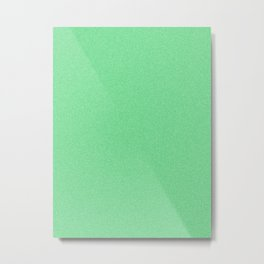 Dense Melange - White and Dark Pastel Green Metal Print