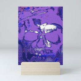 Purple notes Mini Art Print