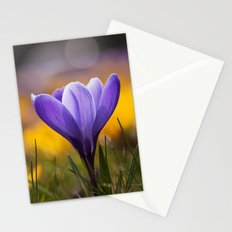 Crocus in a meadow Stationery Cards