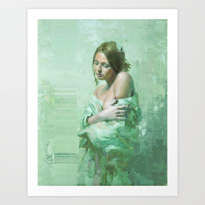 WhiteGirl Art Print
