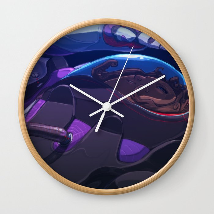 Spacing Out Wall Clock