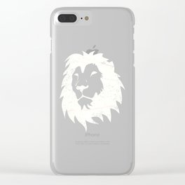 Lion Leo Star Sign Shirt Clear iPhone Case