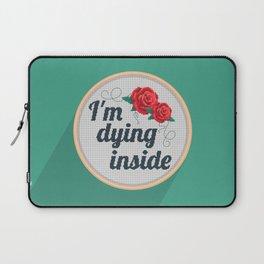 Brutally Honest Cross Stich Laptop Sleeve