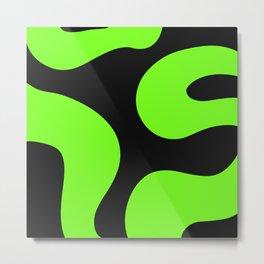Neon Green and Black Metal Print