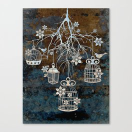 Bird Cage Chandelier Canvas Print