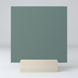 Dark Turquoise Seigaiha Mini Art Print
