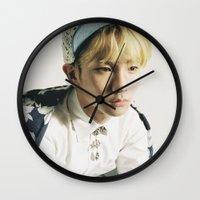 shinee Wall Clocks featuring Key - SHINee by Felicia