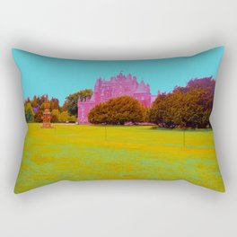 glamis castle in technicolor Rectangular Pillow