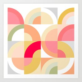 Follow the Rainbows - Mid Century Modern Art Print
