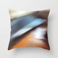 running Throw Pillows featuring Running by Steven Kabza