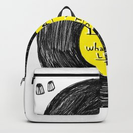 you are what you listen to, YELLOW Backpack