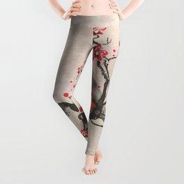 Cherry Blossom Raven Leggings