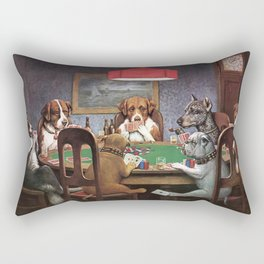 Dogs Playing Poker A Friend in Need Painting Rectangular Pillow