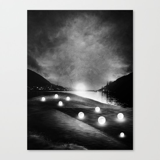 Field of lights (B&W) Canvas Print