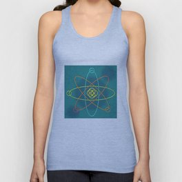 Line Atomic Structure Unisex Tank Top