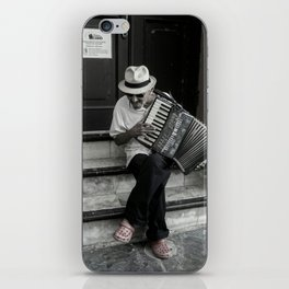Music on the steps iPhone Skin