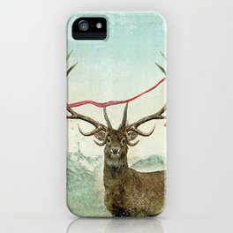 hold deer, tsunami iPhone Case