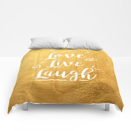 Love Live Laugh Comforters