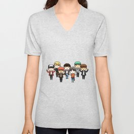 All bts chibi Unisex V-Neck