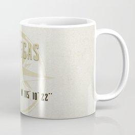Las Vegas Nevada - Vintage Map and Location Coffee Mug