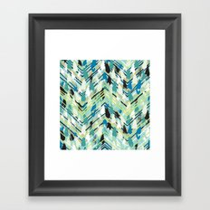 Chevron print with colorful stripes and lines Framed Art Print