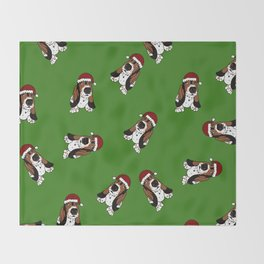 A Basset Full of Christmas Throw Blanket