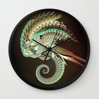 fig Wall Clocks featuring Fig. 36 by Andre Villanueva