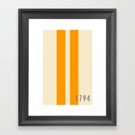 Orange and Stripes - The University of Tennessee  Framed Art Print