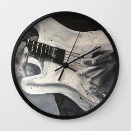 road warrior, stratocaster guitar Wall Clock