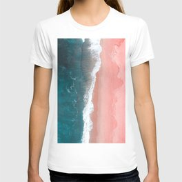 Turquoise Sea Pastel Beach T-shirt