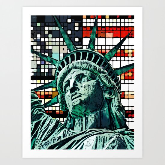 Patriotic Statue of Liberty Art Print