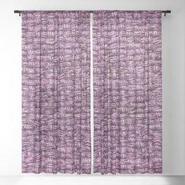 Purple Burlap Textile Sheer Curtain