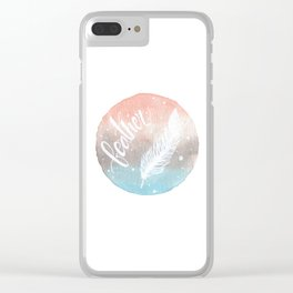 Feather Watercolor Clear iPhone Case