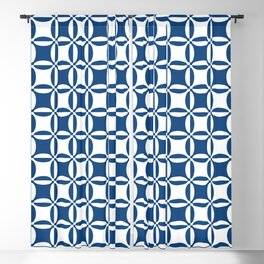 Geometry illusion in blue Blackout Curtain