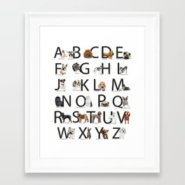 ABCs with Dogs Framed Art Print