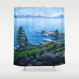 Lake Tahoe Lake of the Sky Shower Curtain