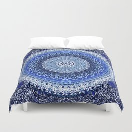 Cobalt Tapestry Mandala Duvet Cover