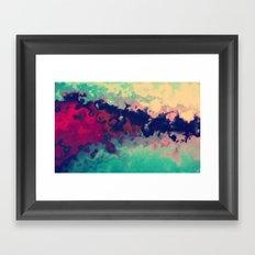 Watercolor marble Framed Art Print