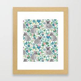Floral Koala Framed Art Print