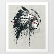 American Heritage (White) Art Print