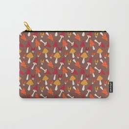 Doodle Mushroom - Fall Pattern Carry-All Pouch