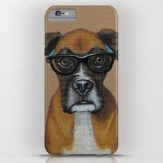 Hipster Boxer dog Slim Case iPhone 6 Plus
