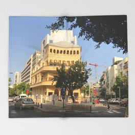 Tel Aviv Pagoda House - Israel Throw Blanket