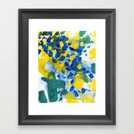 Pool Leaves Framed Art Print