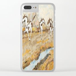 """Wild And Free"" Clear iPhone Case"