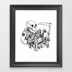 Grim Reaper - Power Scythe Framed Art Print