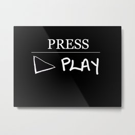 Press Play: Black Metal Print